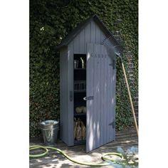 Armoire de jardin r sine conquershed beige marron x x cm - Armoire resine leroy merlin ...