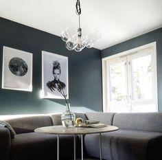 Oslo fra Jotun Oslo, Minimalism, Lounge, Ceiling Lights, Living Room, Interior, Table, Furniture, Green