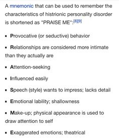 Characteristics of Histrionic Personality Disorder- Surviving a mother with narcissistic and histrionic personality disorder and an enabling father and siblings