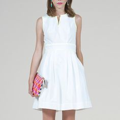 81 Poppies: Kara Dress White, at 55% off!