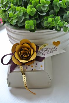Hamburger Box Bigz die, Moonlight dsp, Spiral Flower die Stampin Up by Cards and Scrapping