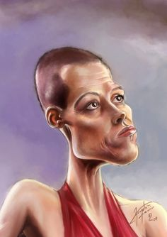 Sigourney Weaver by bogdancovaciu.deviantart.com on @deviantART