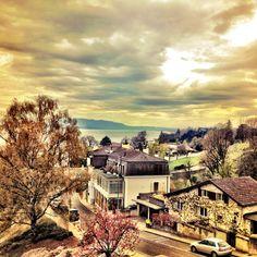 Nyon Leman Lake in Switzerland,. Nature Landscape, Gods Creation, Belle Photo, Switzerland, Places To Visit, Germany, Photos, Europe, Italy