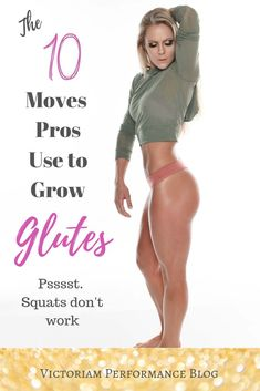 Grow and tone your glutes like a pro, even if you're new in the gym.  #gymtips #fitnesstips #glutes #bootybuilding