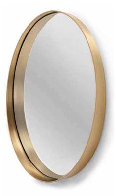 Oval Metal Wall Mirror by Drew Barrymore Flower Home Round Wall Mirror, Diy Mirror, Round Mirrors, Gold Circle Mirror, Ikea Mirror, Mirror Ideas, Gold Walls, Metal Walls, Hall Mirrors