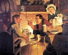 Tolkien Calendar Jan 1978 Farmer Maggots Hospitality, Brothers Hildebrandt