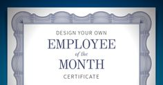 employee of the month template free www exaple - Certificate Of Employee Of The Month Template