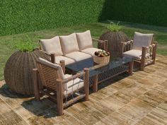 Tu #jardín como lugar de convivencia y comodidad. Producto: Línea Sunwood de #Exteriores #Interceramic.