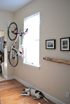 possible bike hanging solution