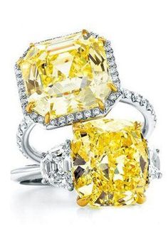 Yellow Diamond Ring. Def getting one for my 20th anniversary, according to B that is.