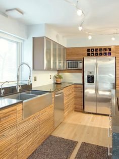 kitchen track lighting | Track lighting is the most multipurpose lighting since each light can ...