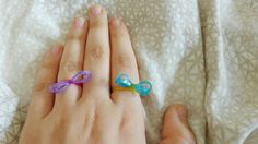 Diy rainbow looms Rings 💍💍