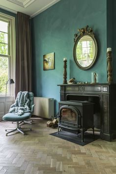 Vardo, the teal that Farrow & Ball never had.adore this room. Teal Rooms, Teal Walls, Green Rooms, Green Walls, Farrow Ball, Murs Turquoise, Turquoise Walls, Jewel Tone Bedroom, Green Kitchen Walls