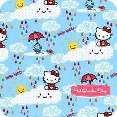 Hello Kitty Multi Let It Rain Yardage SKU# 1050-1-CW2