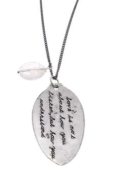 Alisa Michelle How You Understand Necklace - Silver
