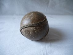GORGEOUS antique OUTSEAM playground SOFTBALL baseball ball stiching 1930s ball stiching leather sports old Rare collector collectible seam - pinned by pin4etsy.com