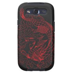 New year dragon red samsung galaxy s3 cases