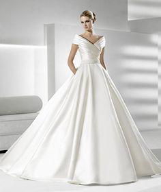 The classic wedding dress silhouette - I love it!