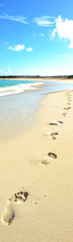 Take it slow, one step at a time. Relax, enjoy, breath. Photo via Nassau Paradise Island: http://www.nassauparadiseisland.com/photos/beaches/turquoise-waters-and-endless-blue-skies/