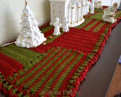 Crocheted Christmas Table Runner | AllFreeChristmasCrafts.com