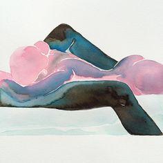 acuarelas pinturas eroticas Tina Maria Elena