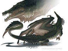 A dracolisk, ground locked ancestors of the Great Dragons and Wyrms, they are fearsome, and should they lack breath attacks, they will still brandish elemental bites, based on their location, this is an example of an acid one