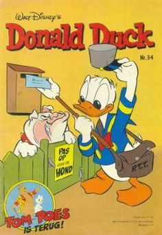 Cover for Donald Duck (Oberon, 1972 series) Donald Duck Characters, Disney Characters, Fictional Characters, Magazines For Kids, Comic Covers, Walt Disney, Dutch, Toms, Family Guy