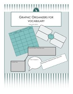 Here are five graphic organizers/templates for use with new vocabulary.  Many of the templates have spaces for pictures of the defined word, as wel...
