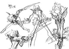 artbooksnat:Kill la Kill (キルラキル) Ryuko's concept art, later...