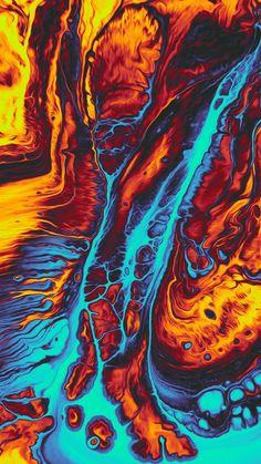 Abstract Orange/Blue Art Print by Geoglyser - X-Small Trippy Wallpaper, Graffiti Wallpaper, Iphone Background Wallpaper, Apple Wallpaper, Dark Wallpaper, Colorful Wallpaper, Aztec Wallpaper, Iphone Backgrounds, Screen Wallpaper
