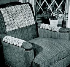 """Chair Set Pattern -  originally from """"Star Book of Crocheted, Knitted, Tatted"""". Book No. 15."""