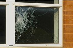 FAST FACT: Increase protection Solar Gard safety and security films help hold broken glass in place, keeping intruders and harsh weather at bay. Window Fixings, Security Window Film, Broken Window, Broken Glass, Double Vitrage, Glass Repair, Window Films, Window Repair, Diy Interior