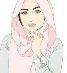 Art Drawing Muslim Girl Hijab Drawing Sarra Art Hijab Cartoon