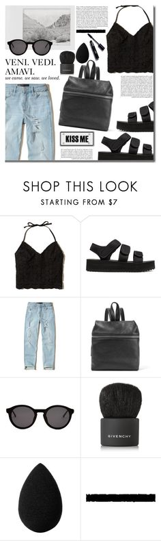 """""""080"""" by earendil-xx ❤ liked on Polyvore featuring Hollister Co., Kara, Polaroid, Thierry Lasry, Whiteley, Givenchy, beautyblender and Tim Holtz"""