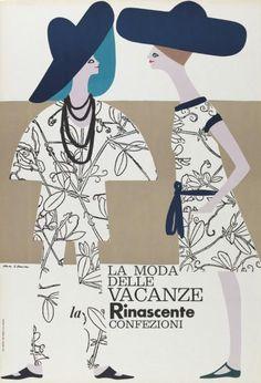 La moda delle vacanze - la Rinascente Confezioni-Plakat