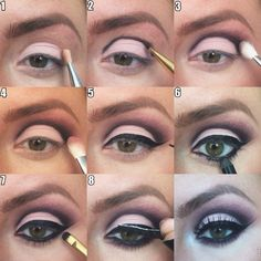 MUA @Makeup by Brittany shows us how to do a fabulous purple smokey cut crease! Click the image for a full tutorial.