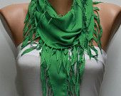 Pigment Green Scarf - Pashmina