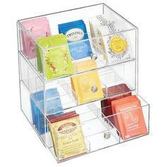Storage Organization, Countertop Organization, Small Kitchen Organization, Organiser Box, Organizer, Lazy Susan, Green Tea Bags, Liquid Vitamins, Organizers