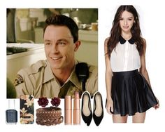 """Imagine Spend a Day with Deputy Parrish"" by xdr-bieberx ❤ liked on Polyvore"