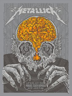 Metallica Prague Poster by AngryBlue