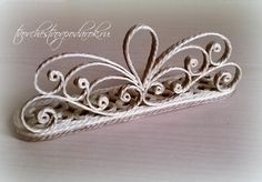 красивая салфетница своими руками Jute Crafts, Paper Crafts, Quilling, Button Crafts, Pattern, Jewelry, Newspaper, Rope Crafts, Appliques
