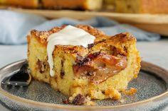 Klassisk æblepai i langpande Let Them Eat Cake, French Toast, Muffins, Baking, Breakfast, Sweet, Desserts, Recipes, Food