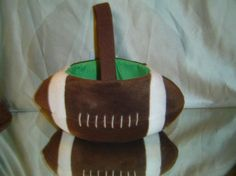FOOTBALL back to school candy or carryall basket by LONLAR803, $10.00