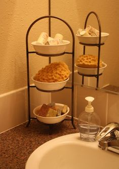 plate stand for bathroom toiletries  (would be great for shaving stuff versus face cleaning stuff)