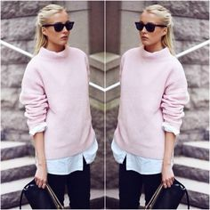 How to Chic: PINK SWEATER