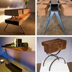 1800s Reclaimed Wood: Tables from Unite Two Design