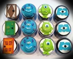 - Monsters Inc cupcakes