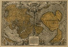 Here's a classic map of the world from 1531.   30 Maps That Are Missing From Your Life