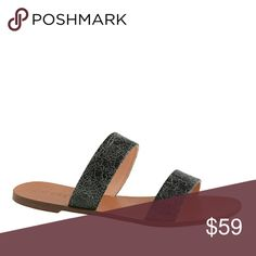 New J.Crew Black Malta Crackled Leather Sandals, 8 Brand new, sold out online. Classic, stylish sandals that you'll want to wear with everything this summer! Leather upper. Purchased from J. Crew retail. J. Crew Shoes Sandals