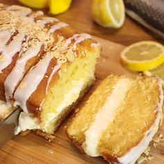 Moist vanilla cake with a salted caramel meringue buttercream, and Best Lemon Drizzle Cake, Lemon Loaf Cake, Lemon Creme Cake, Lemon Drizzle Cupcakes, Lemon Icing, Lemon Cakes, Pound Cake, Lemon Recipes, Baking Recipes